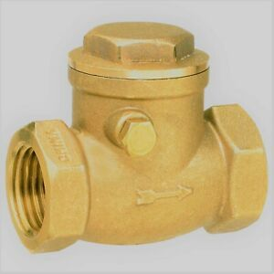 1 2 Fip Brass 200 Water oil gas Swing Check Valve Threaded Plumbing Fitting