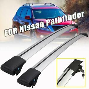 For 2013 2019 Nissan Pathfinder Roof Rail Rack Cross Bars Kayak Carrier Silver