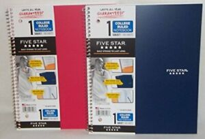 Five Star 06206 11 X 8 1 2 1 Subject Wirebound Notebook Assorted Colors