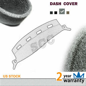 Fits 2002 2005 Dodge Ram Pickup 1500 Dark Grey Dashboard Mat Pad Dash Cover