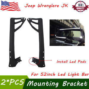 23 Bull Bar Front Bumper License Plate Mount Bracket Led Work Light light Bar