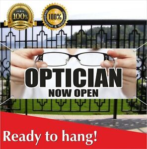 Optician Now Open Banner Vinyl Mesh Banner Sign Optometrist Optician Glasses