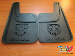 2009 2018 Dodge Ram 1500 Rear Rubber Mud Flaps W O Fender Flares Mopar Oem