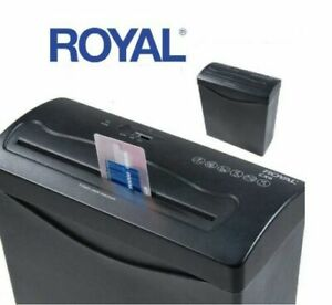 Royal Cx6 Cross Cut 6 Sheet Paper Shredder Credit Card Includes Wastebasket