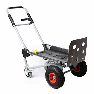 200kg Capacity Steel Convertible Hand Truck Cart Wheel Dolly Trolley Heavy Duty