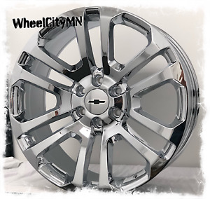 20 Inch Chrome 2017 Ck158 Chevy Silverado Tahoe Ltz Oe Replica Wheels 6x5 5 31