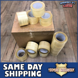 Us Made 1 Case 24 Roll 3 x330 2mil Clear Packing Tape Carton Sealing Packaging