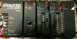 Automation Direct Logic Koyo Plc D2 04b D2 230 D2 16nd3 2 D2 12ta Rack Chasis