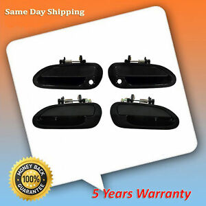 For 1998 2001 2002 Honda Accord Smooth Black Set Of 4pcs Outside Door Handle New