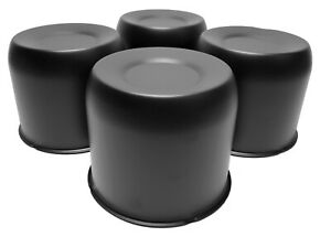 4 Black Push Through Short Center Caps For 4 25 Center Bore Truck Wheels Rim
