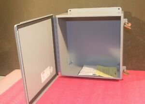 Hoffman A1212ch Junction Box 12x12x6 In Nema 12 Steel Continuous Hinge Clamps