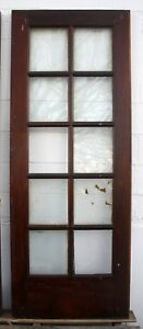 30 X80 Antique Vintage Solid Wood Wooden French Door 10 Window Wavy Glass Lites