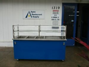 3 Well Electric 240v Steam Table W guard Cabinet Ice Bin 3997