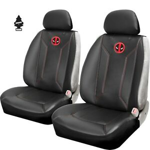 For Chevrolet New Pair Of Marvel Deadpool Sideless Car Truck Suv Seat Covers