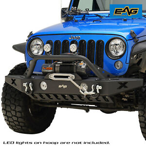 07 18 Jeep Wrangler Jk Rock Crawler Front Bumper Black Textured With Winch Plate