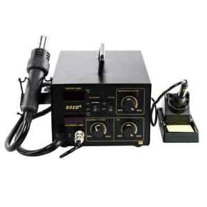 Black Convenient Sturdy 852d 2 In 1 Digital Display Hot Air Soldering Station