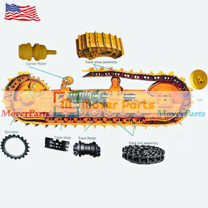 Undercarriage Parts Track Link Idler Sprocket Roller For Komatsu Pc120 5 In Usa