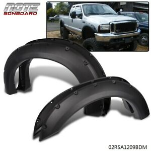 Ford 99 07 F250 F350 Ford Super Duty 4pcs Pocket Rivet Style Fender Flares Black