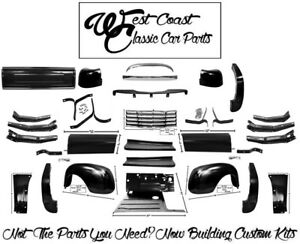 1947 1953 Chevy Truck Fenders Running Boards Bumper Ft Rear Blank Tailgate Kit