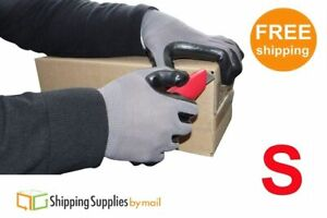 Grey Nitrile Dipped Protective Gloves Non disposable Work Wear Small 60 Pairs