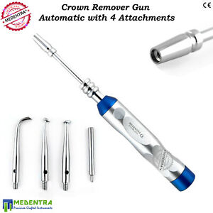 Automatic Dental Ortho Crown Remover Gun Set With 4 Attachments Turkish Pattern
