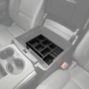 Fits Chevy Tahoe 15 19 Center Console Black Organizer Insert 3pc Full Console