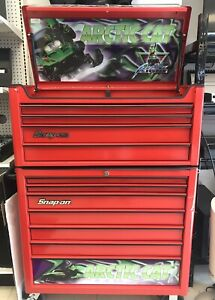Snap on Arctic Cat Heritage Series 40 7 Drawer Roll Cab 4 Drawer Top Chest
