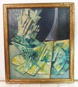 Giuliano Caporali Abstract Italian Modernist Oil Painting Listed Mid Century