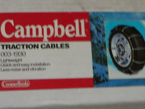 Cable Tire Chains Campbell 1930 205 45 17 215 45 17 215 35 18 195 75 14