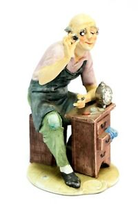 A Benni Old Watchmaker Fine Capodimonte Porcelain In Great Condition 1899 Italy