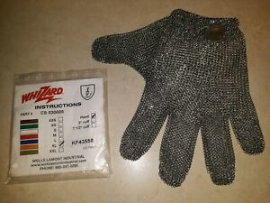 Meat Cutters Glove Xl Whizard Chain Stainless Steel Mesh Hand Glove new