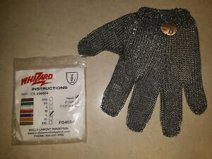 Meat Cutters Glove Size L Whizard Chain Stainless Steel Mesh Hand Glove new