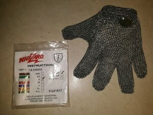 Meat Cutters Glove Size S Whizard Chain Stainless Steel Mesh Hand Glove new