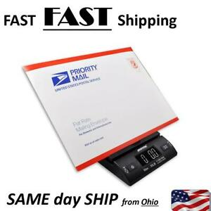 All Black Digital Postal Scale 50 Pound Max Great For Ebay Stores Fast Ship