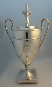 Scottish Sterling Silver Coffee Urn Handled Spout 1792