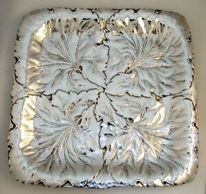 Repousse Foliate Tray Reed And Barton Sterling Silver 1934