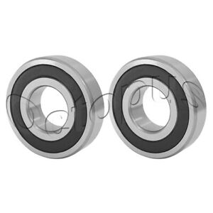 2pc Premium R6 2rs Abec1 Rubber Sealed Deep Groove Ball Bearing 3 8x 7 8x 9 32