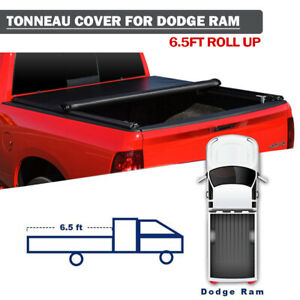 Roll Up Soft Tonneau Cover For 09 18 Dodge Ram 2500 3500 6 5 Ft 78 Truck Bed