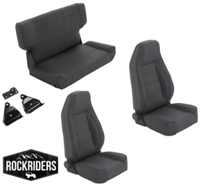1997 2006 Jeep Wrangler Tj Lj Reclining Front And Rear Seat Combo Kit