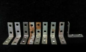 Antique Vintage Rustic Brackets Hardware Metal 1 1 2 L Brackets