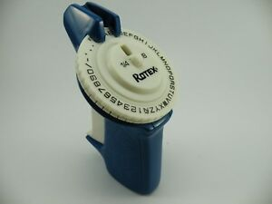 Vintage Blue Rotex Labelmaker With Green Tape