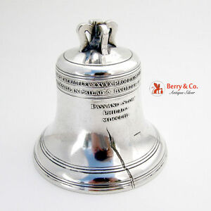 Liberty Bell Figural Coin Bank Sterling Silver William Kerr 1900