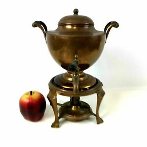 Manning Bowman Copper Percolator Coffee Pot Samovar Water Kettle
