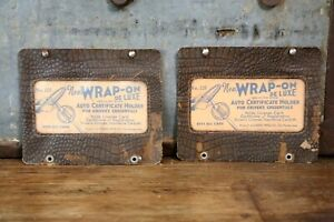 2 Vintage Auto Certificate Holders Steering Wheel Accessory Ford Model A Model T