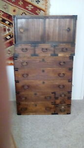Japanese Tansu Chest On Chest