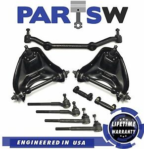 9 Pc New Suspension Kit For Chevy Blazer S10 Gmc Jimmy Sonoma Isuzu Control Arms