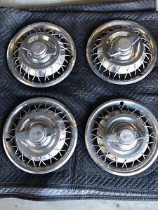 Set Of 4 Vintage 1962 63 Chevrolet Corvair Wire Spinner Hub Caps 14