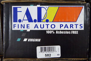 Brand New Fdp 582 Rear Brake Shoes Fits Vehicles Listed On Chart