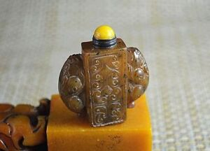 Chinese Hand Carved Exquisite Jade Snuff Bottle H074