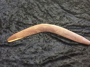 Old Early Aboriginal Carved Emu Boomerang From Private Collection 48cm